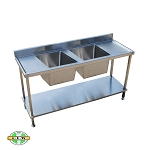 Double Sink Bench - Series 600