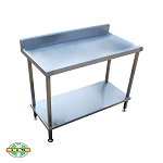 Flat Bench with Splashback & Undershelf - Series 700