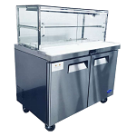 2 DOOR SANDWICH BAR WITH GLASS CANOPY 1225mm